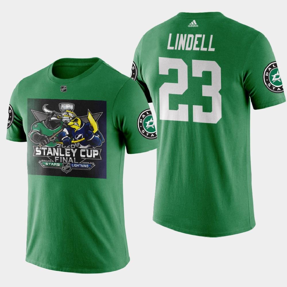 Men's Green Dallas Stars Esa Lindell 2020 Stanley Cup Final T-Shirt
