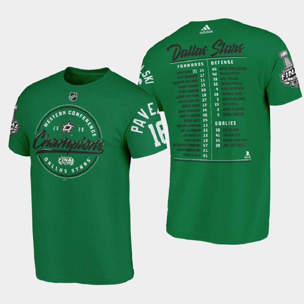 Men's Green Dallas Stars Joe Pavelski 2020 Stanley Cup Final T-Shirt