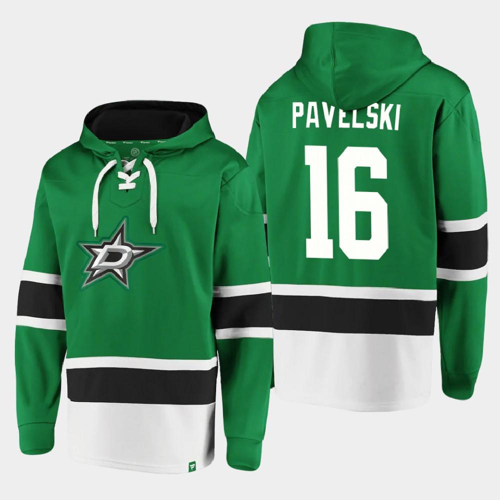 Men's Dallas Stars Joe Pavelski Kelly Green Hoodie Dasher Player