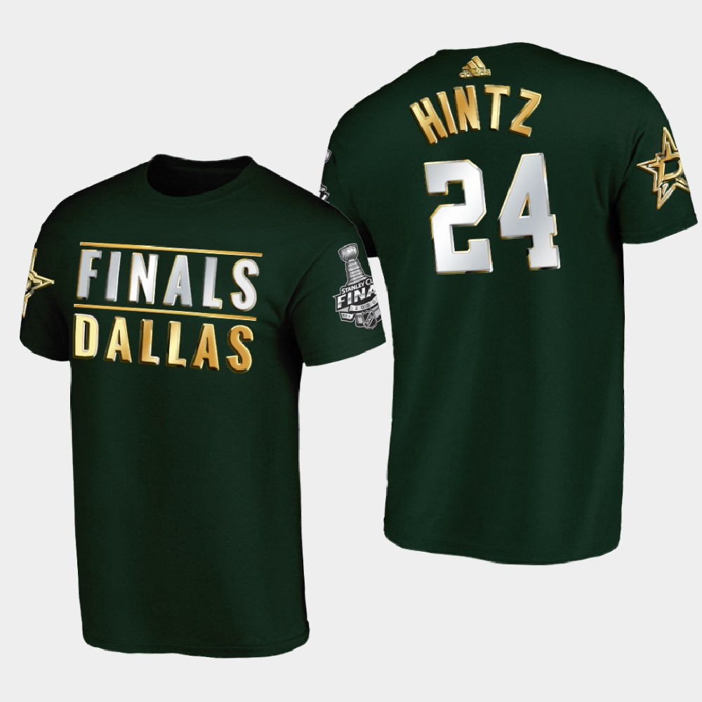 Men's Green Dallas Stars Roope Hintz 2020 Stanley Cup Final T-Shirt