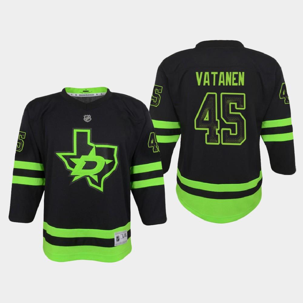 Jersey Black Alternate Youth Dallas Stars Sami Vatanen