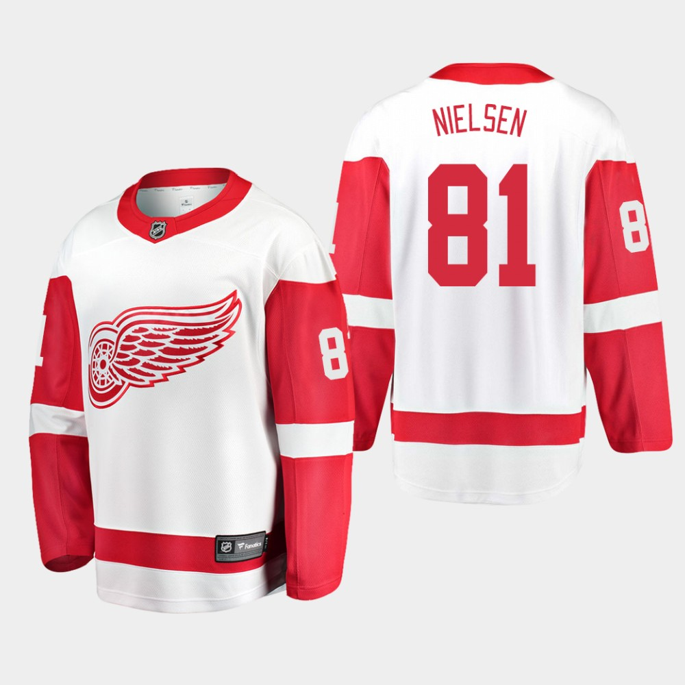 White Men's Jersey Away Detroit Red Wings Frans Nielsen