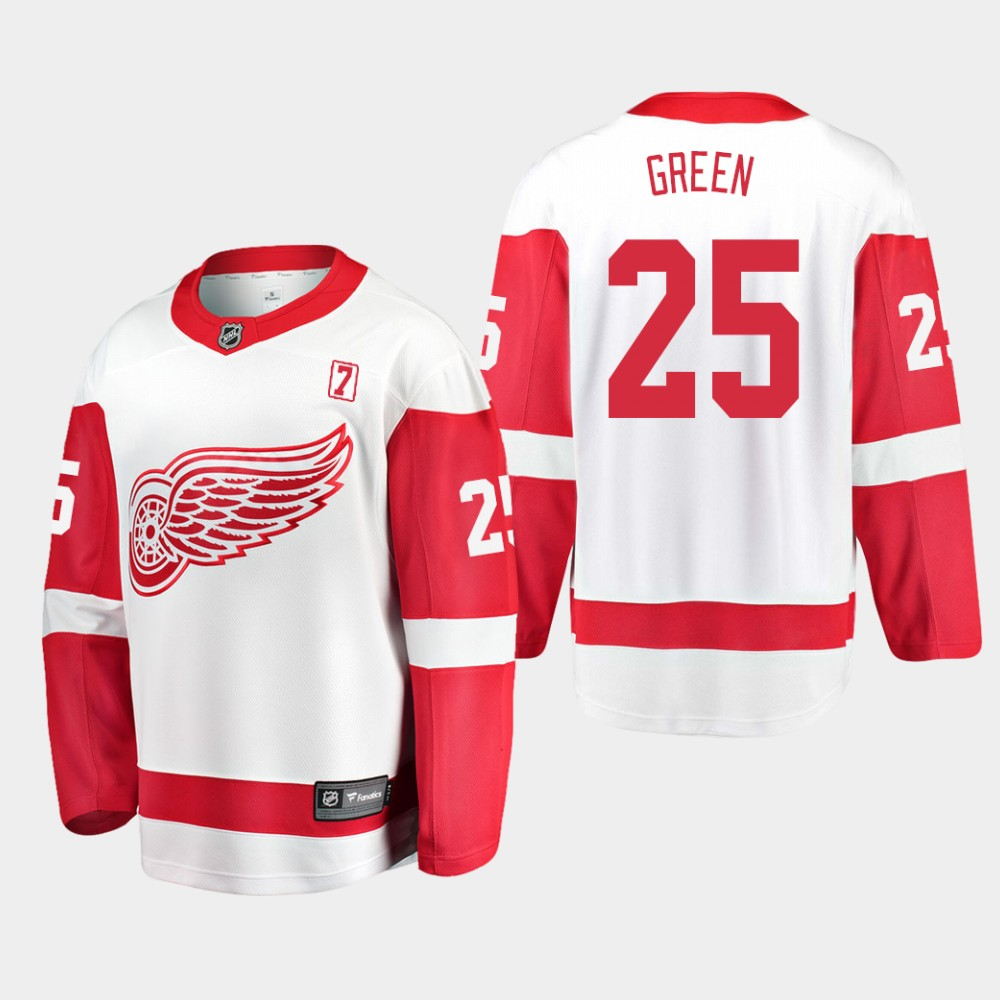 White Men's Jersey Away Detroit Red Wings Mike Green