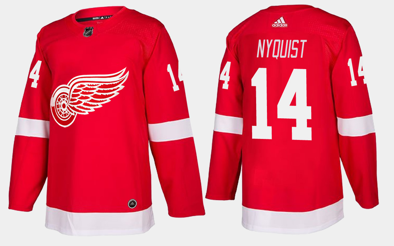 Men's Jersey Red Home Detroit Red Wings Gustav Nyquist