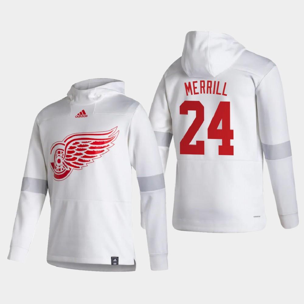 White Men's Reverse Retro Detroit Red Wings Jon Merrill Hoodie