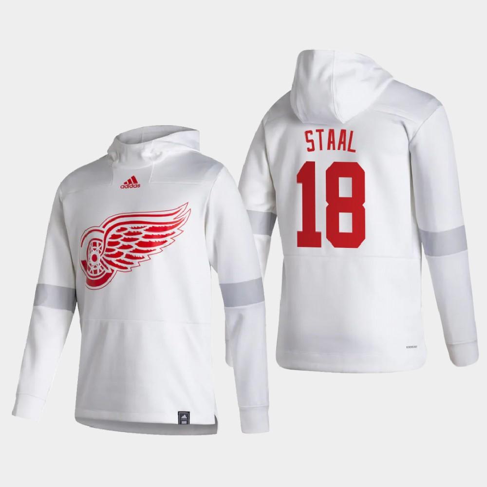 White Men's Reverse Retro Detroit Red Wings Marc Staal Hoodie