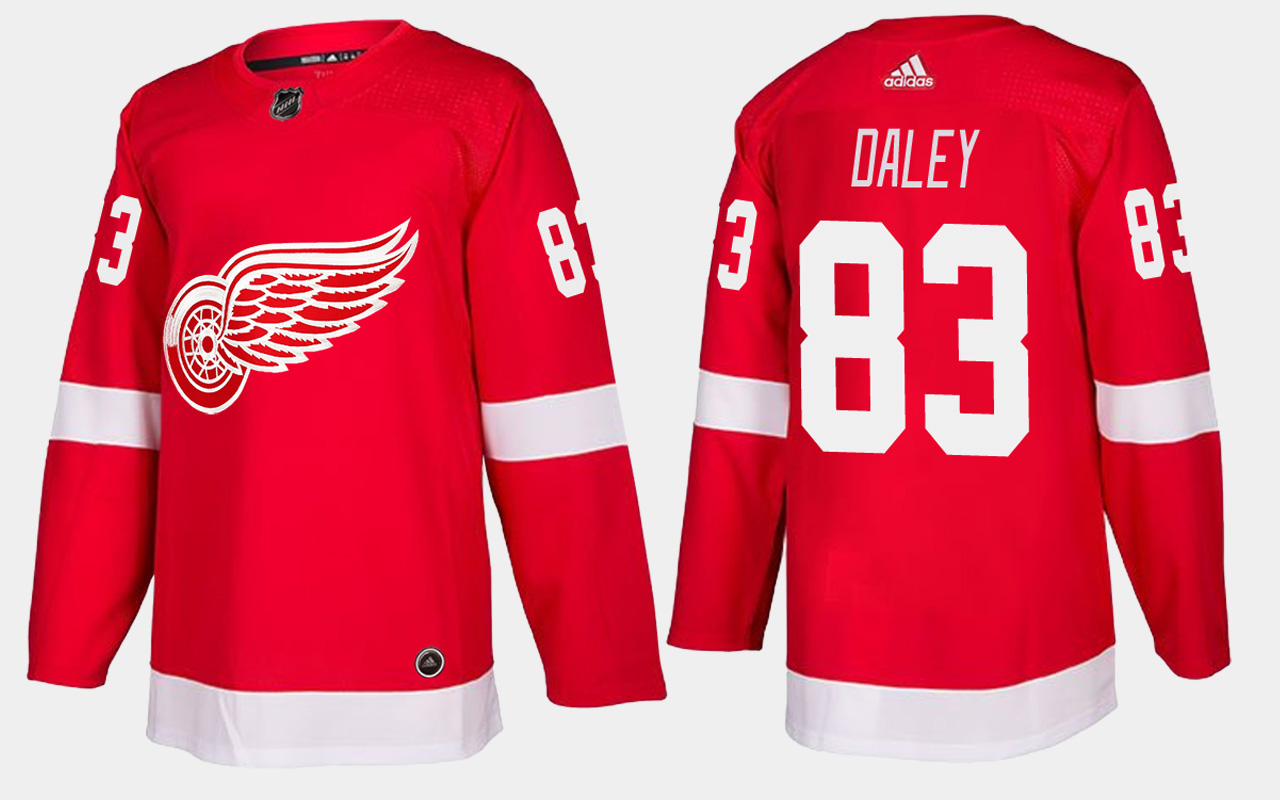 Men's Jersey Red Home Detroit Red Wings Trevor Daley