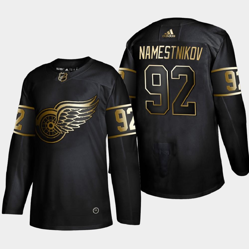 Men's Jersey Black NHL Golden Edition Detroit Red Wings Vladislav Namestnikov
