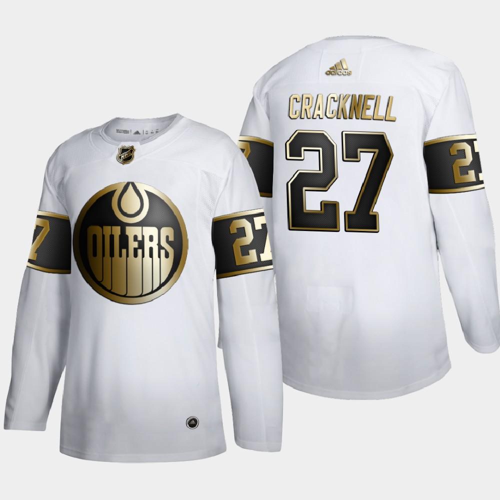 White Men's Jersey NHL Golden Edition Edmonton Oilers Adam Cracknell