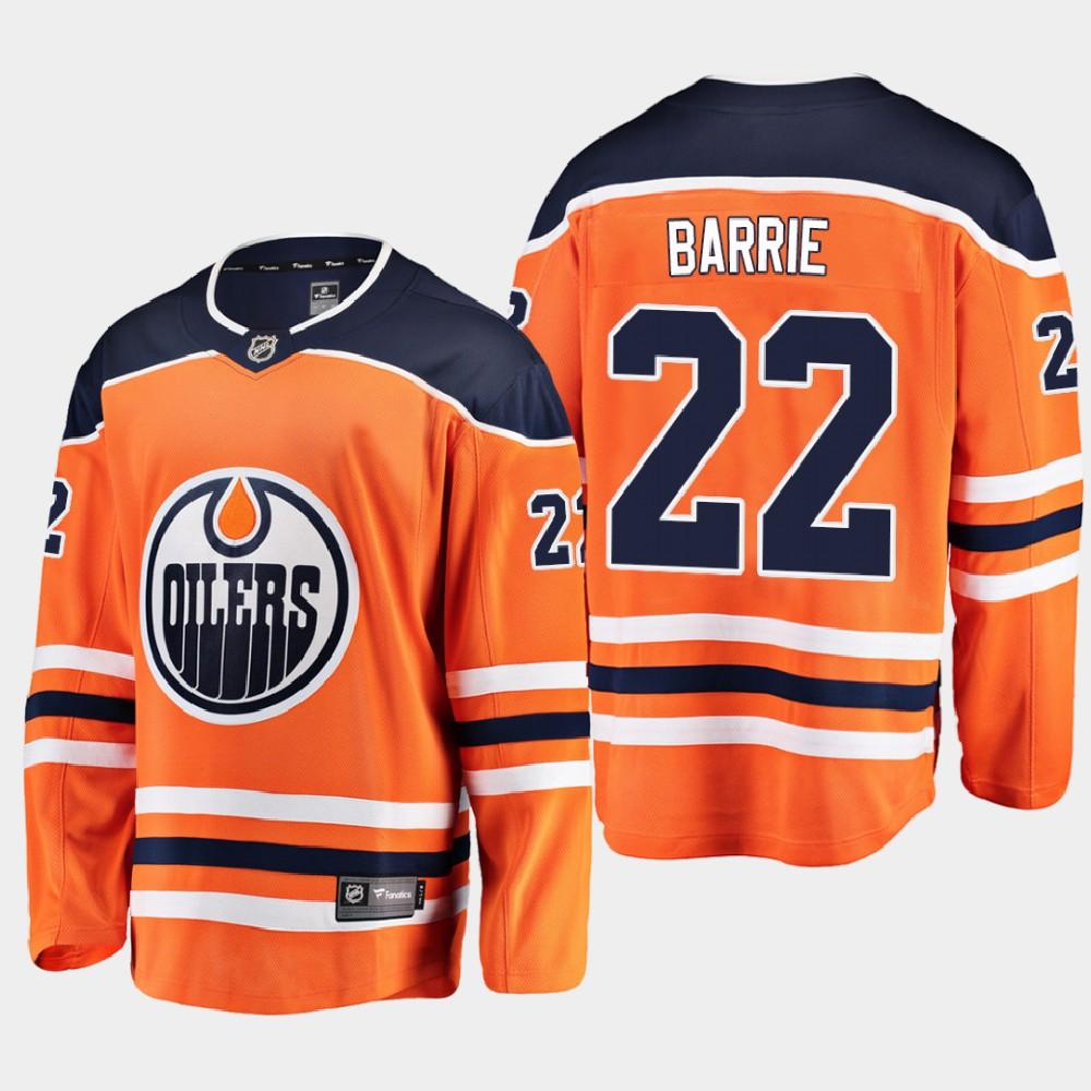 Men's Jersey Home Edmonton Oilers Orange Tyson Barrie