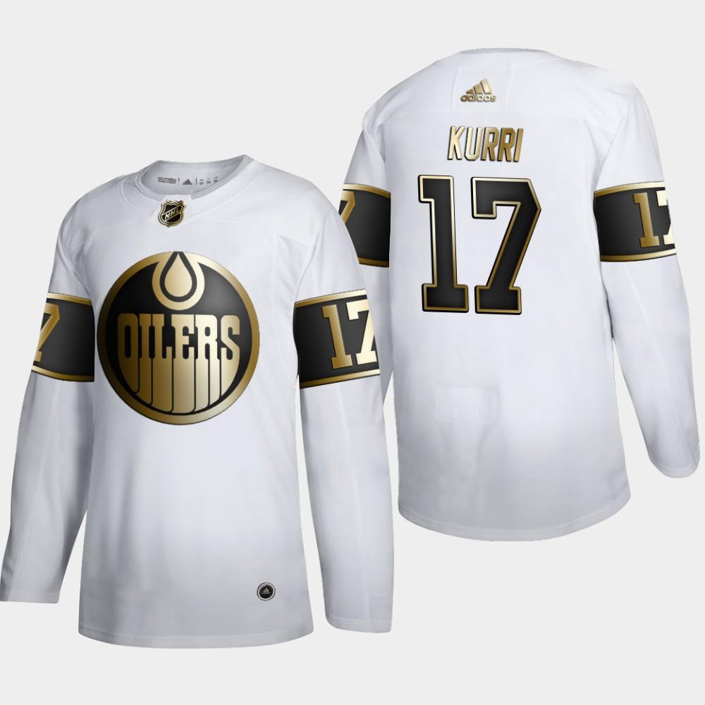 White Men's Jersey NHL Golden Edition Edmonton Oilers Jari Kurri