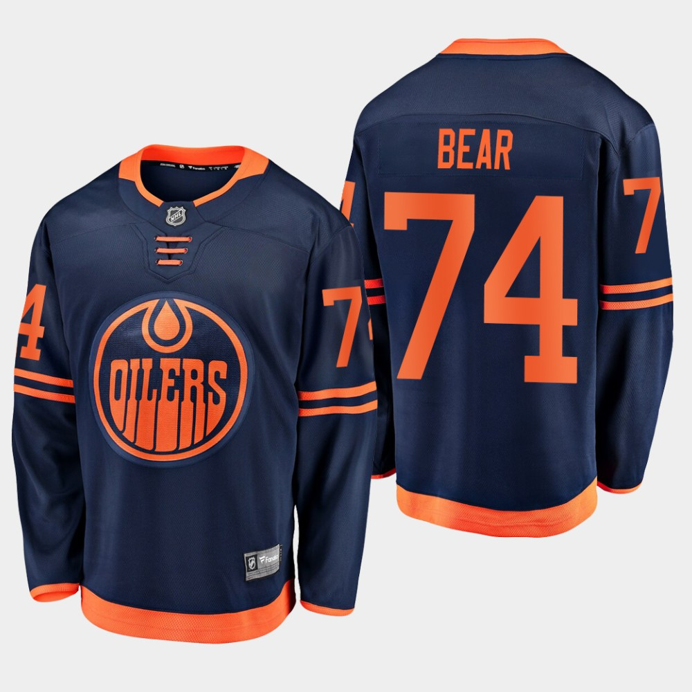 Men's Jersey Navy Alternate Edmonton Oilers Ethan Bear