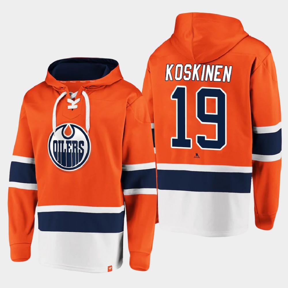 Men's Edmonton Oilers Orange Mikko Koskinen Hoodie Dasher Player