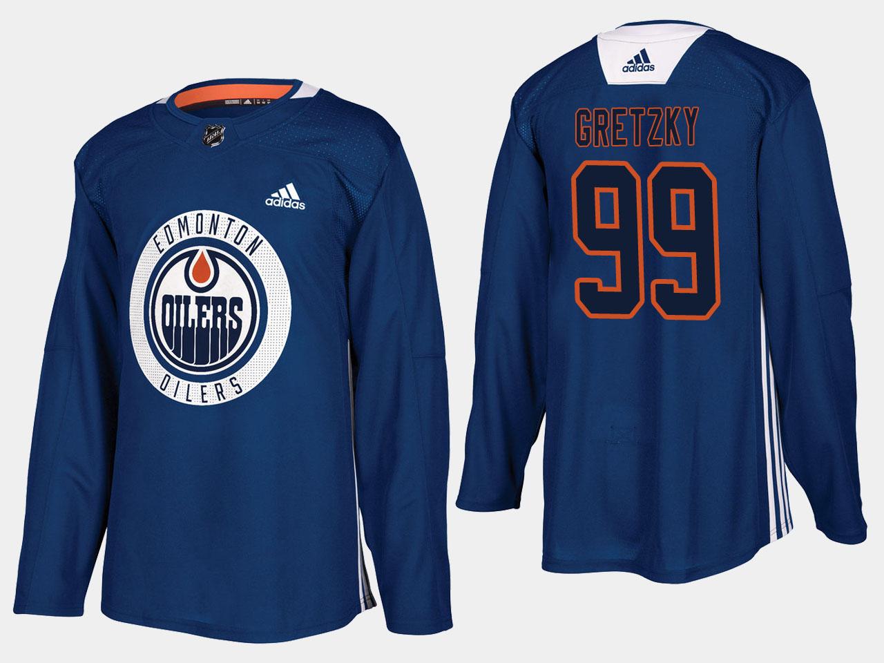 Men's Jersey Home Edmonton Oilers Royal Wayne Gretzky