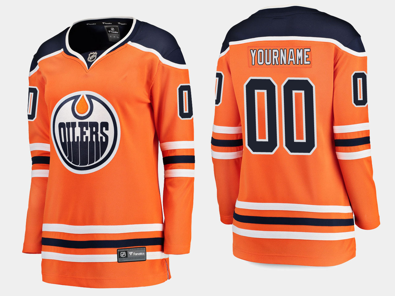 Jersey Home Custom Women's Edmonton Oilers Orange