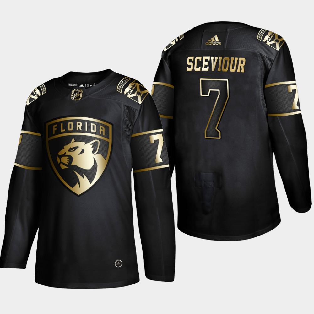 Men's Jersey Black NHL Golden Edition Florida Panthers Colton Sceviour