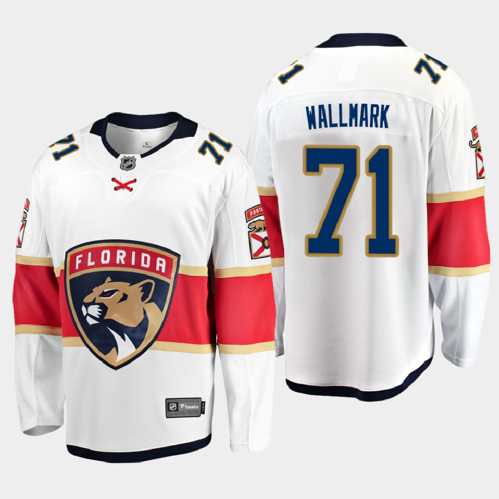 White Men's Jersey Away Florida Panthers Lucas Wallmark