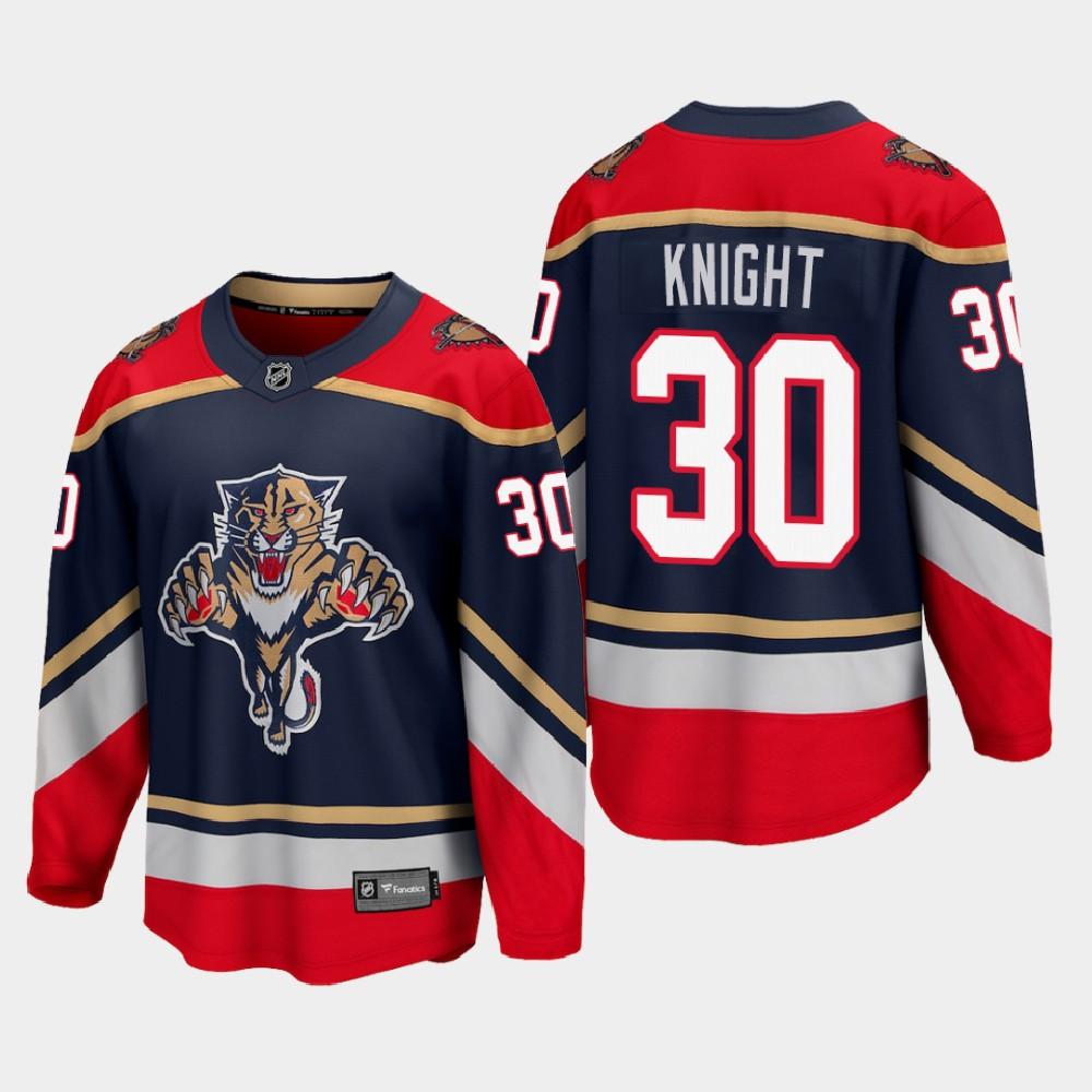Men's Jersey Blue Reverse Retro Florida Panthers Spencer Knight