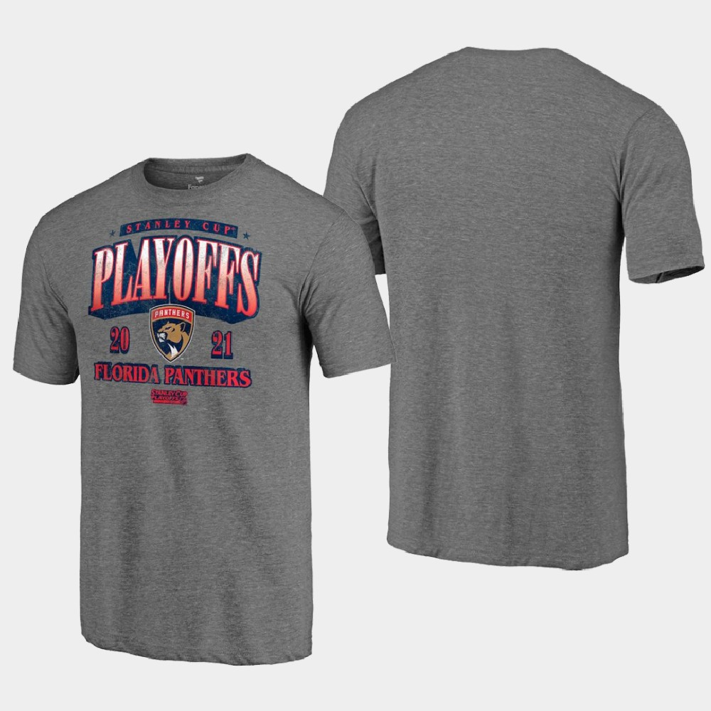 Men's Florida Panthers 2021 Stanley Cup Playoffs T-Shirt Heathered Gray