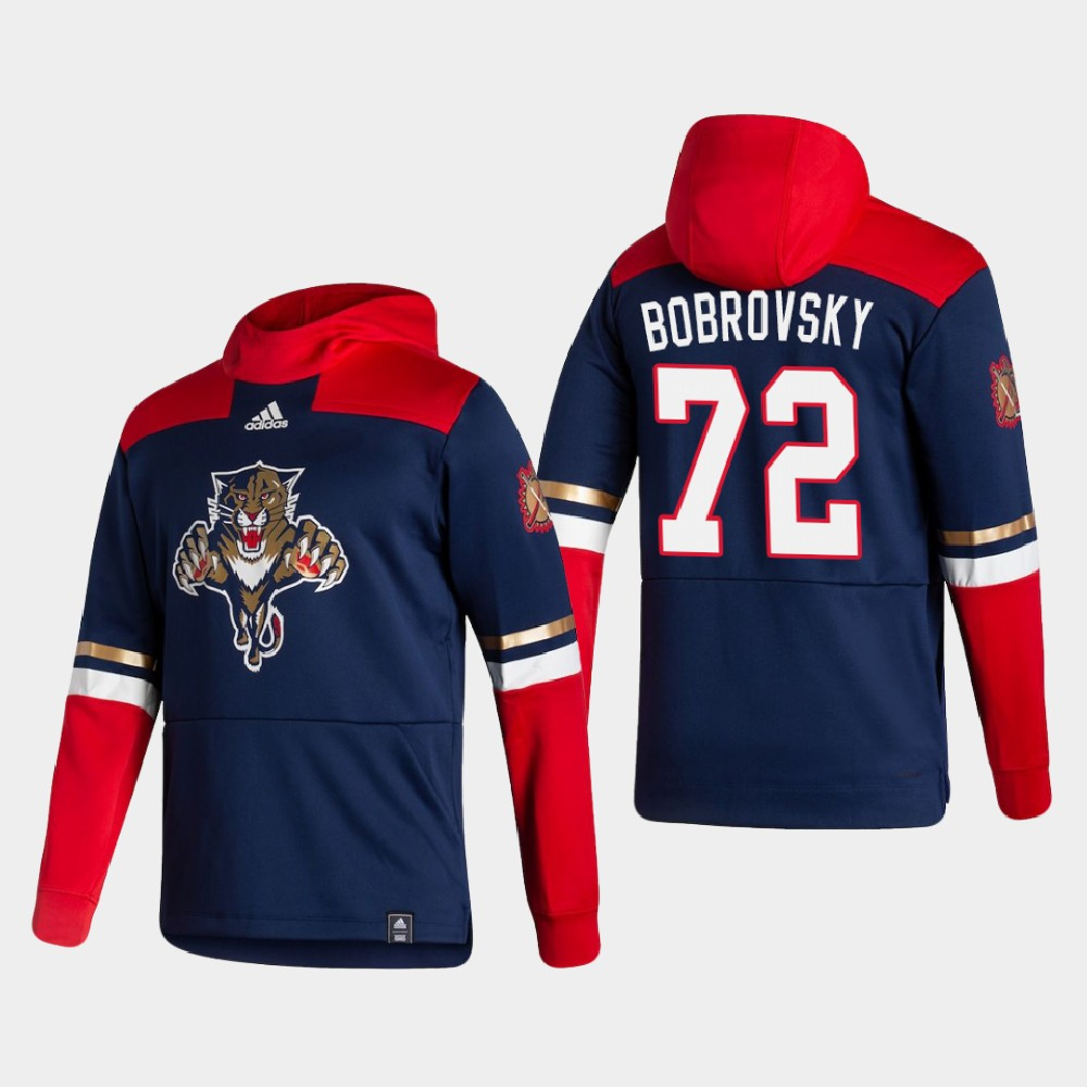 Men's Reverse Retro Navy Florida Panthers Sergei Bobrovsky Hoodie
