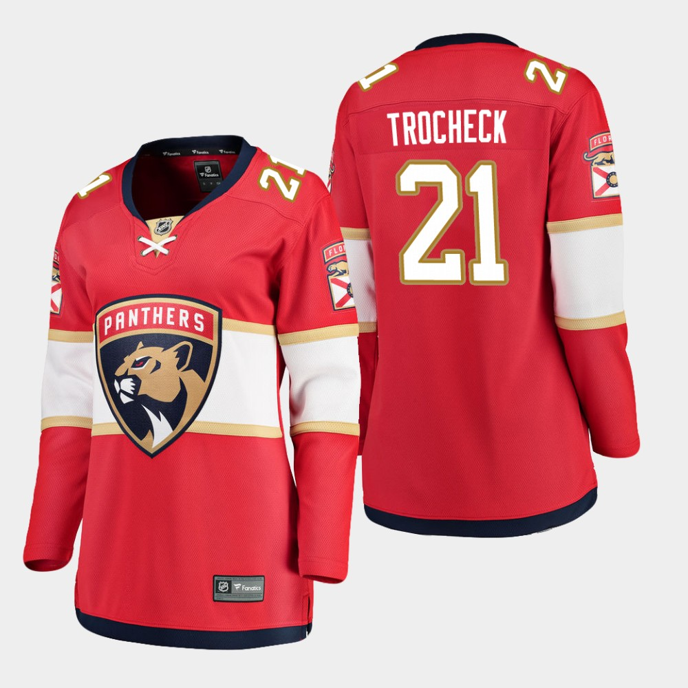 Jersey Red Home Women's Florida Panthers Vincent Trocheck