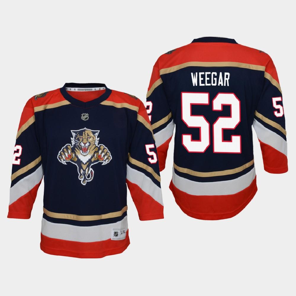Jersey Reverse Retro Navy Youth Florida Panthers MacKenzie Weegar