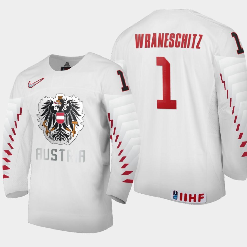 IIHF White Men's Jersey 2021 IIHF World Junior Championship Sebastian Wraneschitz