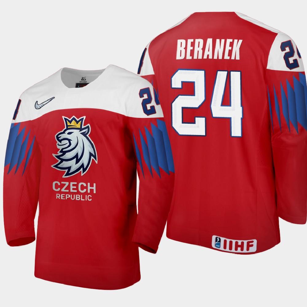 IIHF Men's Jersey Red 2021 IIHF World Junior Championship Martin Beranek