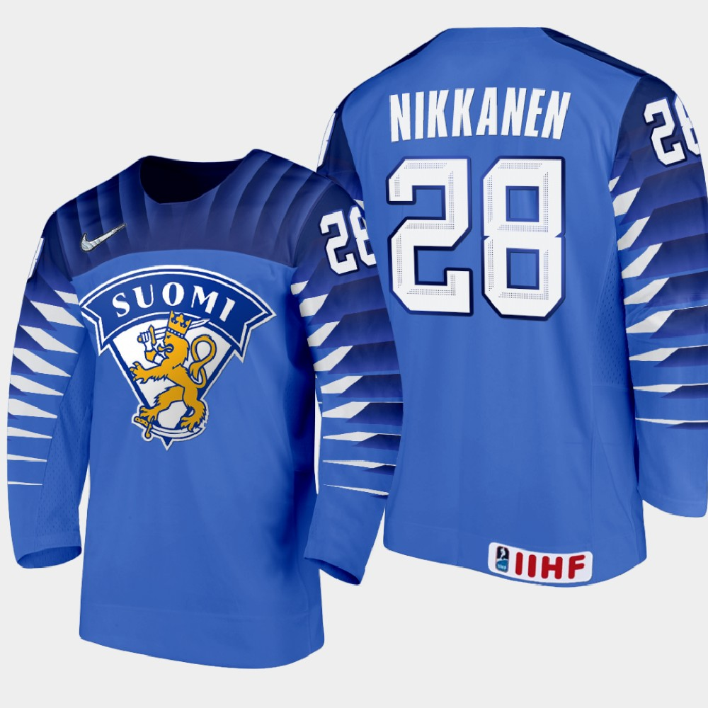 IIHF Men's Jersey Blue 2021 IIHF World Junior Championship Henri Nikkanen