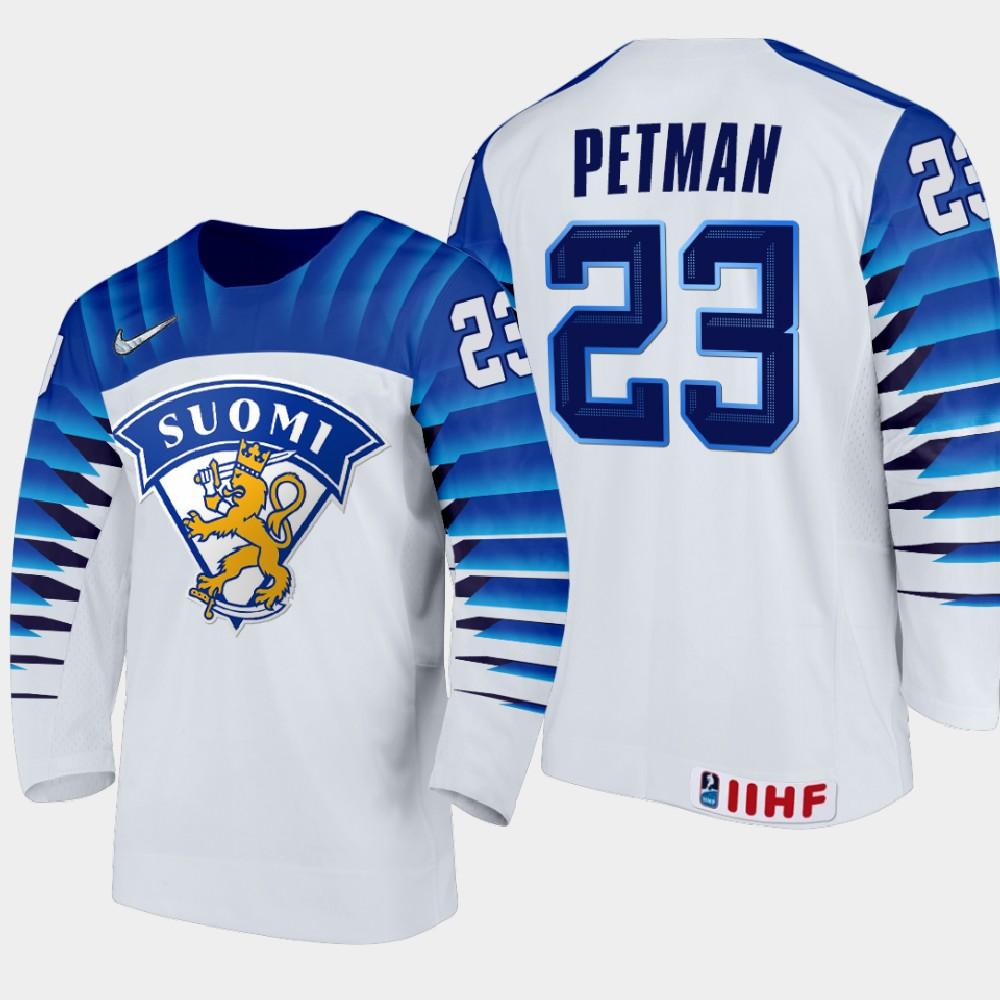 IIHF White Men's Jersey 2021 IIHF World Junior Championship Mikko Petman