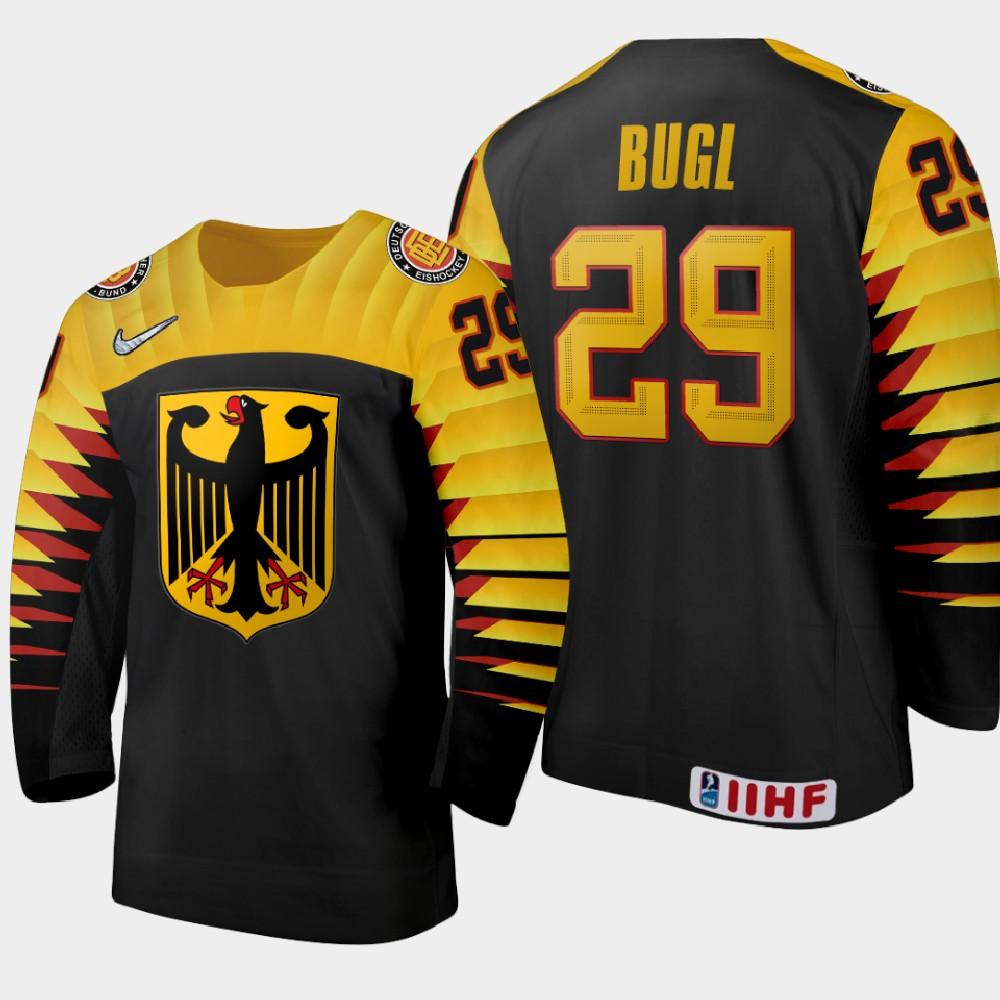 IIHF Men's Jersey Black 2021 IIHF World Junior Championship Florian Bugl
