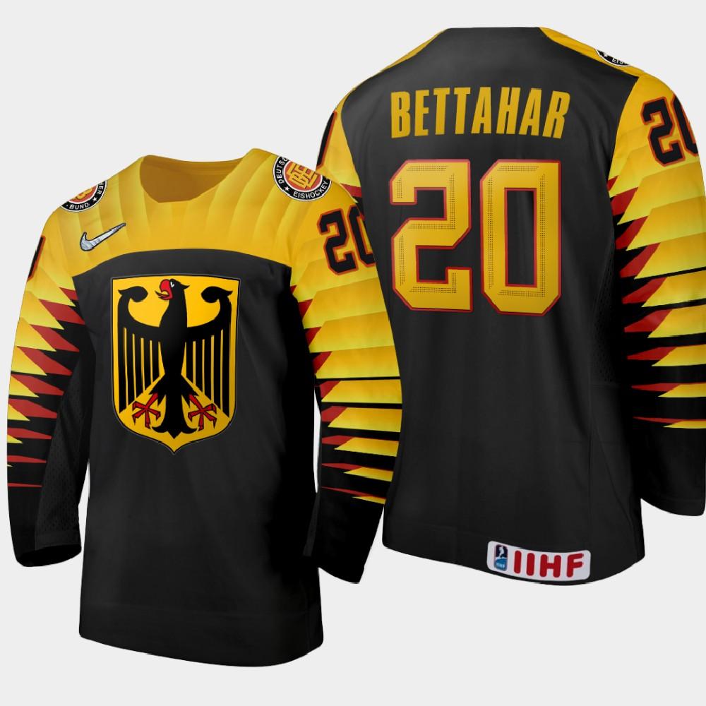 IIHF Men's 2021 IIHF U18 World Championship Jersey Black Rayan Bettahar