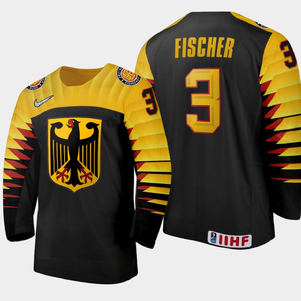 IIHF Men's 2021 IIHF U18 World Championship Jersey Black Sten Fischer