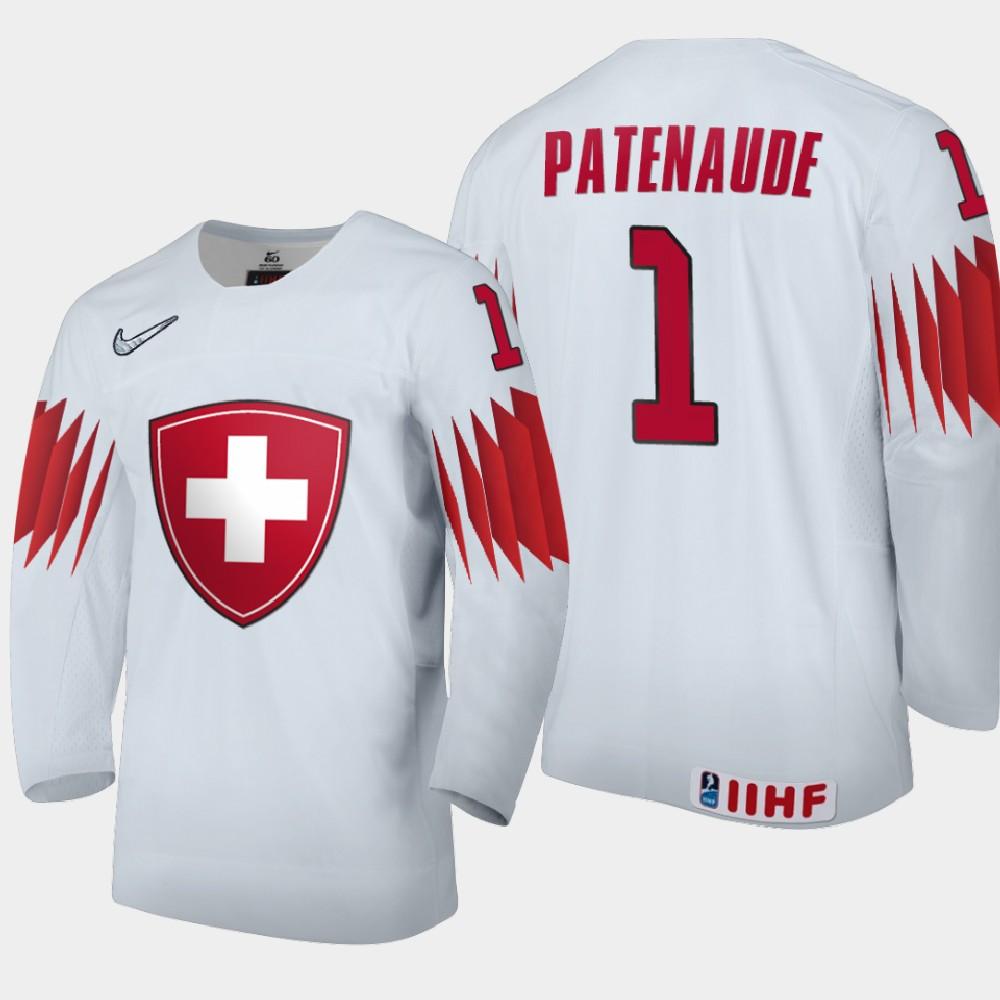 IIHF White Men's Jersey 2021 IIHF World Junior Championship Noah Patenaude