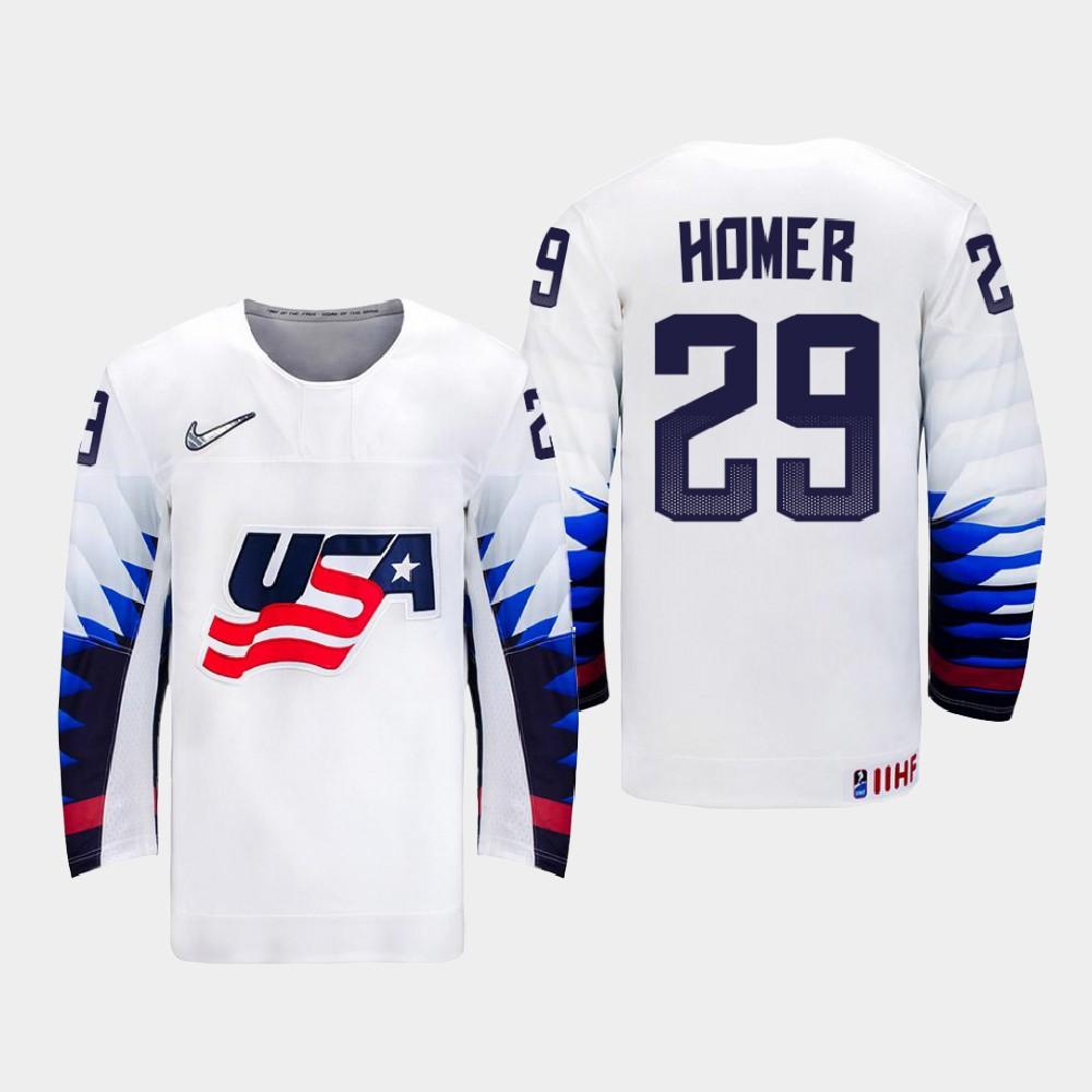 IIHF White Men's 2021 IIHF U18 World Championship Jersey Gibson Homer