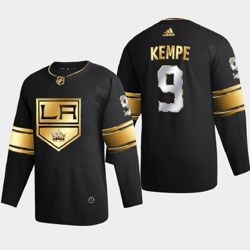 Men's Jersey Black Authentic Golden Los Angeles Kings Adrian Kempe