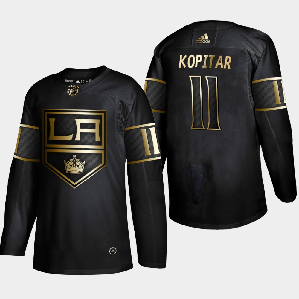 Men's Jersey Black Los Angeles Kings Anze Kopitar NHL Golden Edition