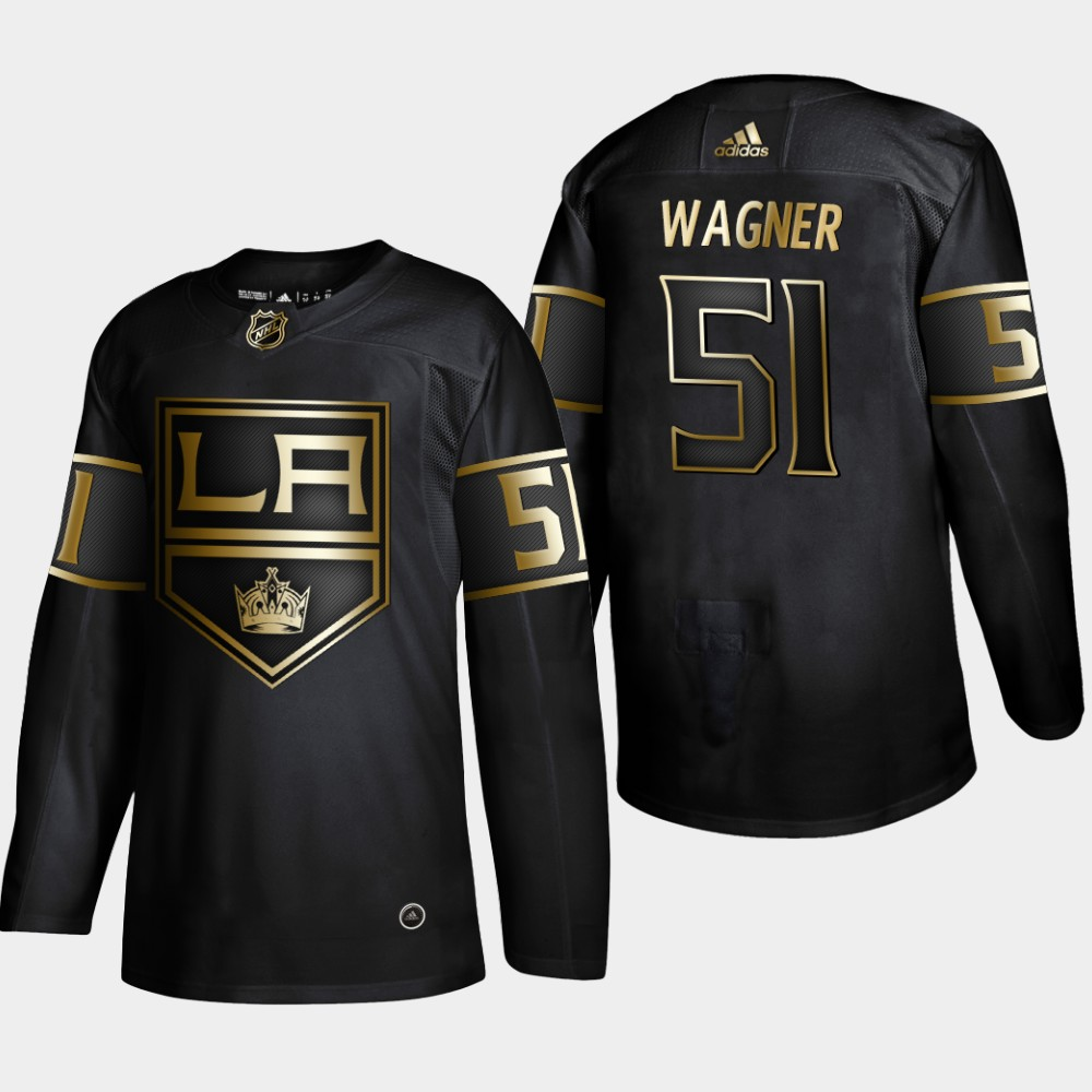 Men's Jersey Black Los Angeles Kings NHL Golden Edition Austin Wagner