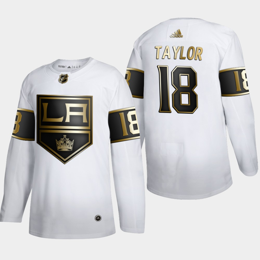 White Men's Jersey Los Angeles Kings NHL Golden Edition Dave Taylor