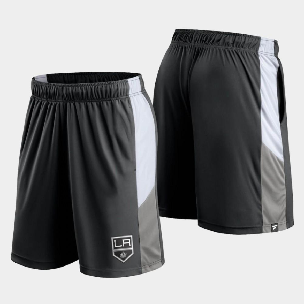 Men's Black Los Angeles Kings Prep Colorblock Shorts