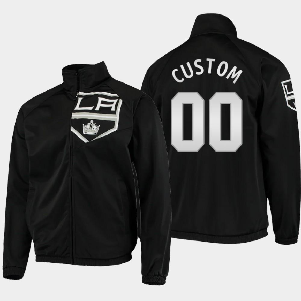 Men's Black Los Angeles Kings Custom Jacket G-III Sports