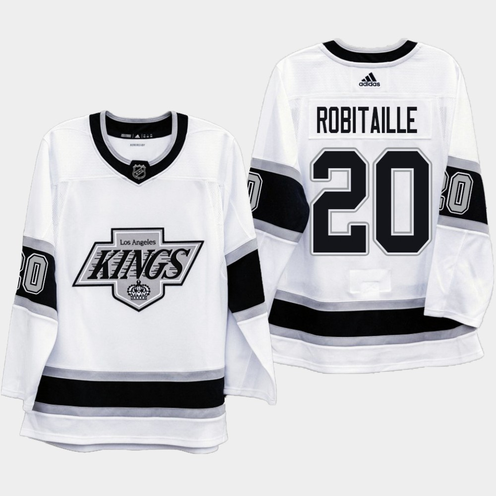White Men's Jersey Los Angeles Kings Heritage Luc Robitaille