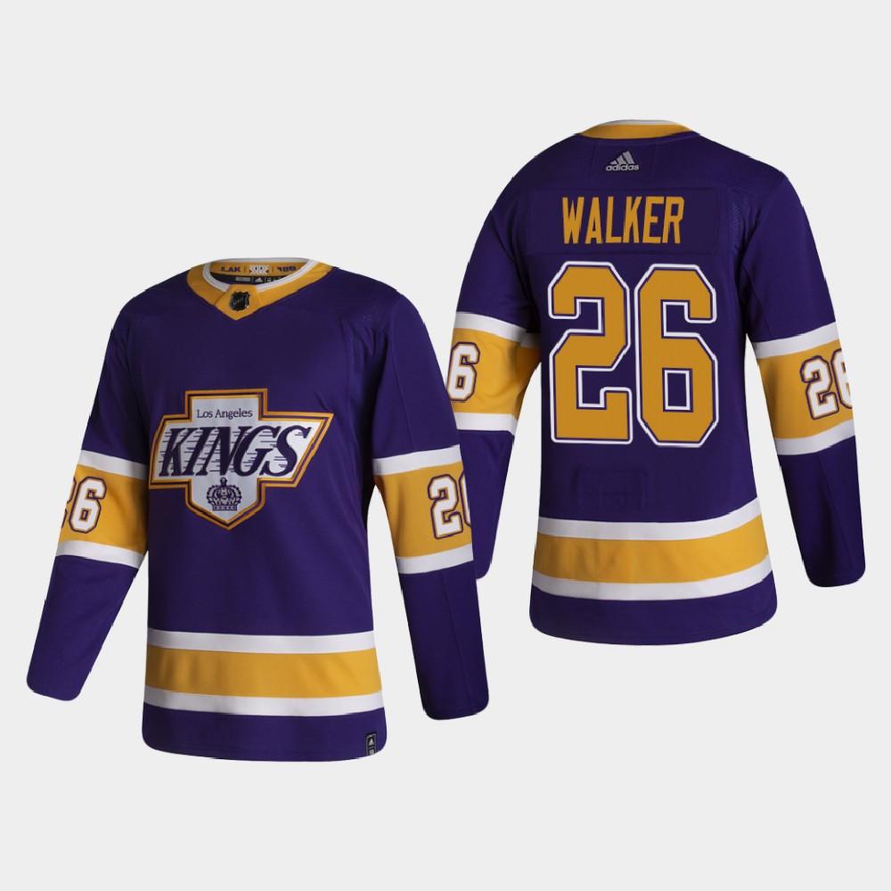 Men's Jersey Reverse Retro Los Angeles Kings Sean Walker Purple