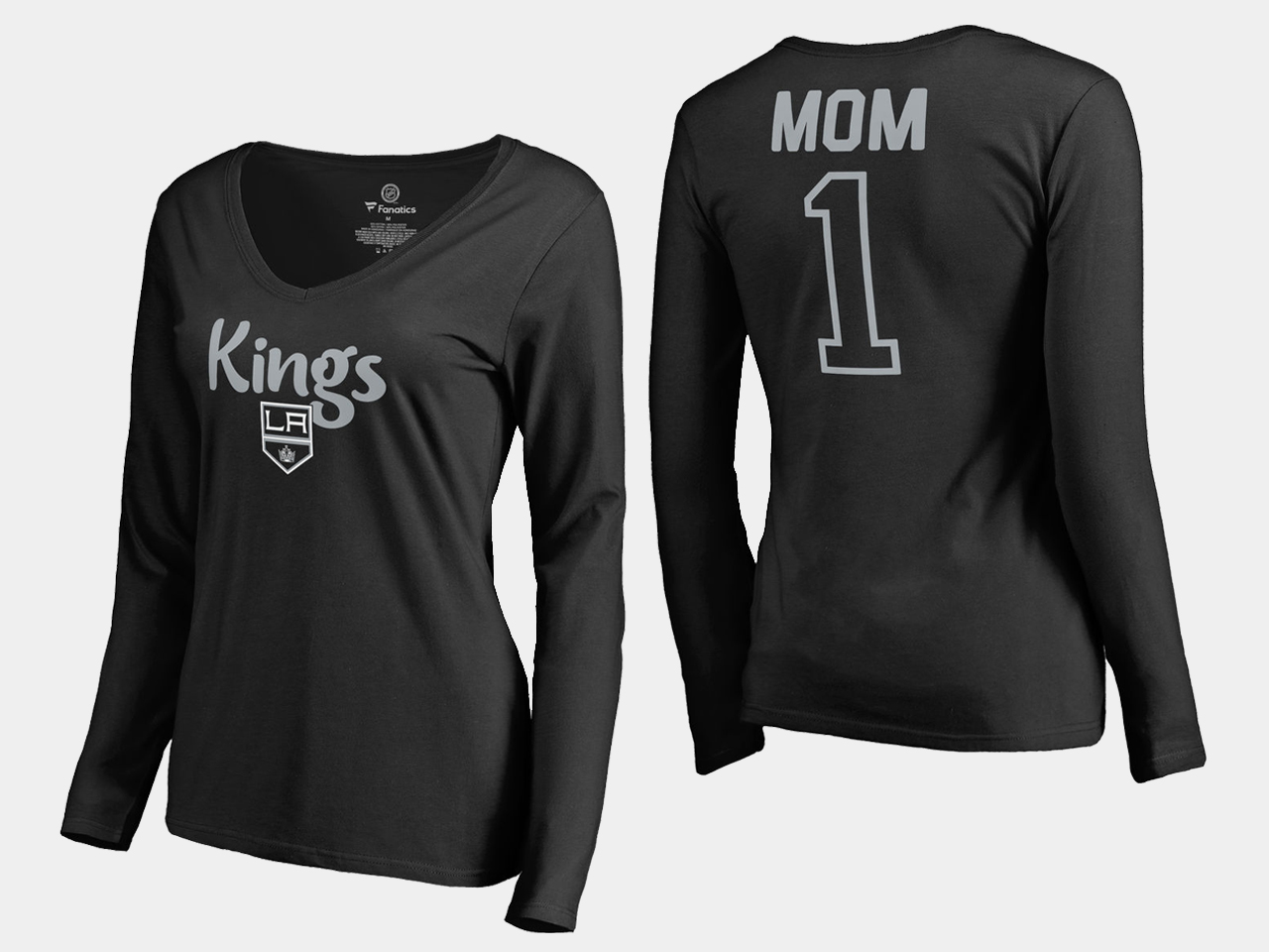Black Los Angeles Kings Women's T-Shirt Mother's Day