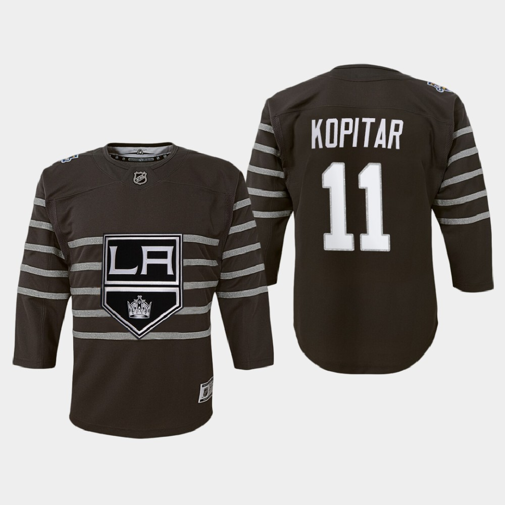 Jersey Los Angeles Kings Anze Kopitar Youth Gray 2020 NHL All-Star Game