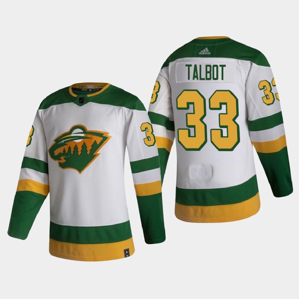 White Men's Jersey Reverse Retro Minnesota Wild Cam Talbot
