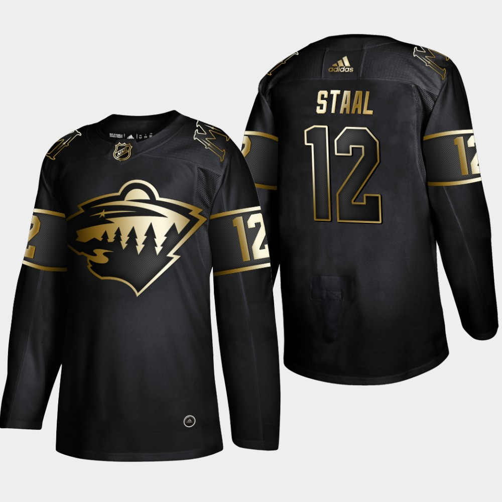 Men's Jersey Black NHL Golden Edition Minnesota Wild Eric Staal