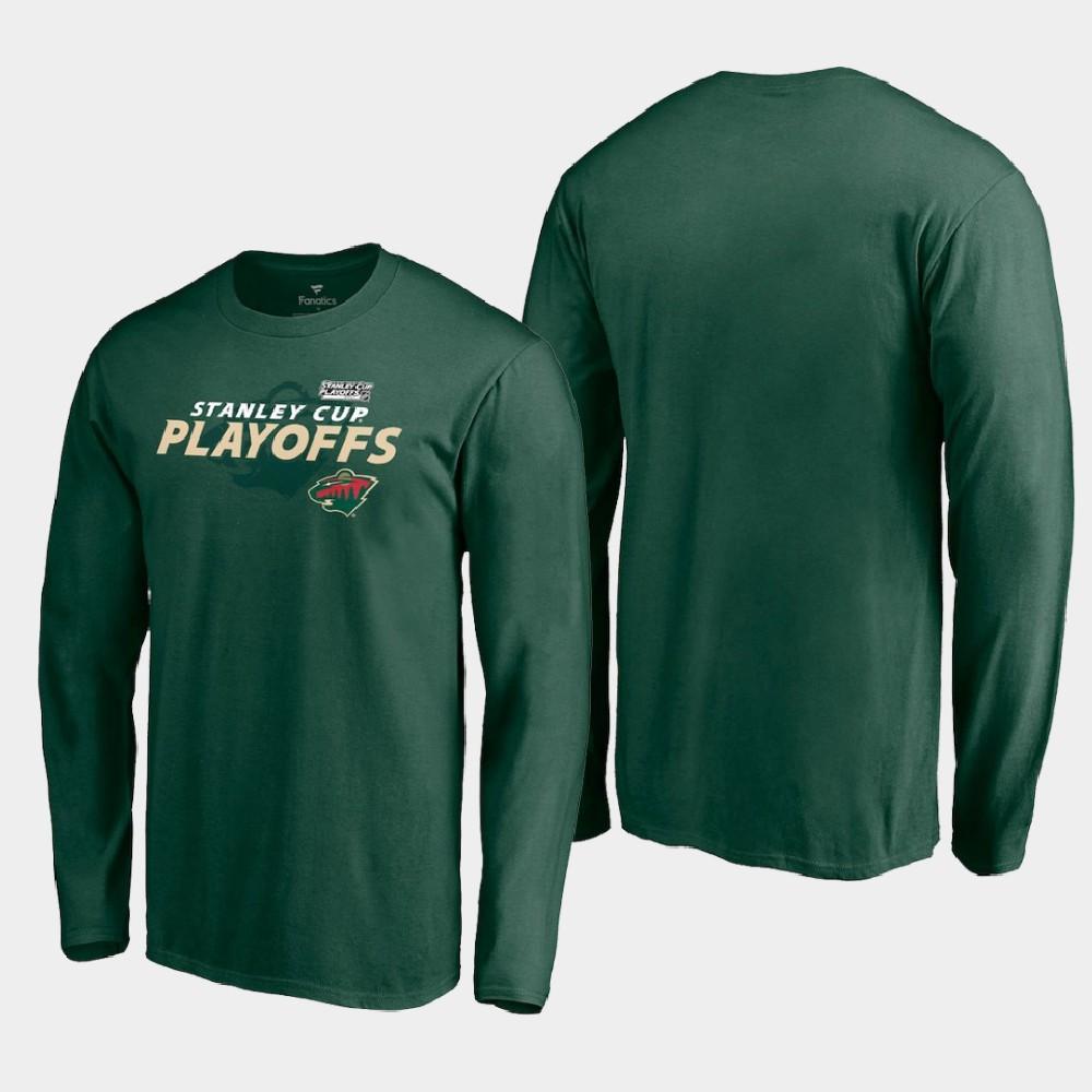 Men's Green Minnesota Wild 2021 Stanley Cup Playoffs T-Shirt