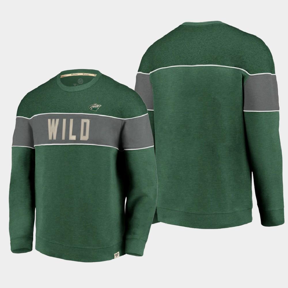 Men's Green Minnesota Wild Sweatshirt Varsity Reserve