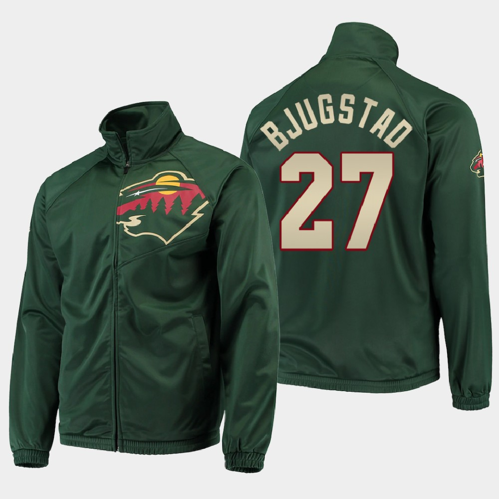 Men's Green Minnesota Wild Nick Bjugstad Jacket G-III Sports